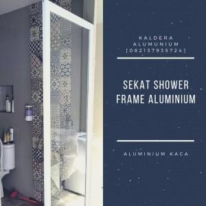 sekat shower kaca frame